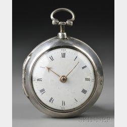 John Haywood Silver Pair Case Watch