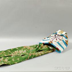 Cheyenne Beaded Hide and Cloth Cradle