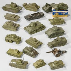 Nineteen Toy and Recognition Military Vehicles