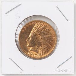 1910-D $10 Indian Head Gold Coin