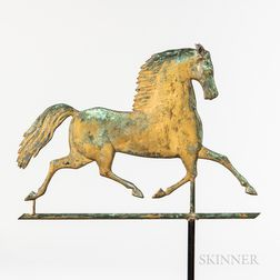 Molded Sheet Copper Black Hawk Weathervane