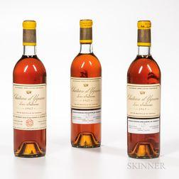 Chateau dYquem 1967, 3 bottles