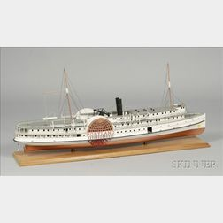 Wood Model of the Paddle Steamer Portland