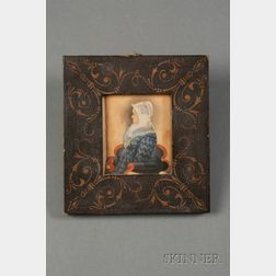 Attributed to James Sanford Ellsworth (American, 1802/03- 1874) Portrait Miniature of an Elderly Woman Wea...