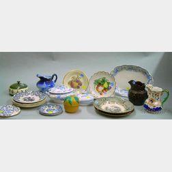 Twenty Pieces of Mostly English Decorated Ceramic Tableware