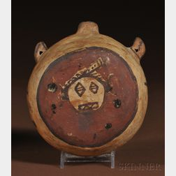 Hopi Polychrome Pottery Canteen
