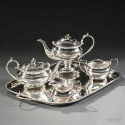 Four-piece George III/IV Sterling Silver Tea and Coffee Service