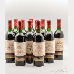 Chateau Forts de Latour 1966, 11 bottles