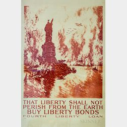 Framed Liberty Shall Not Perish From The Earth   Poster