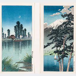 Kawase Hasui (1883-1957), Two Woodblock Prints