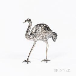 Dutch .833 Silver Ostrich Spice Box