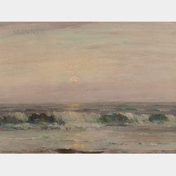 Joseph Henry Boston (American, 1860-1954)    Moon over Surf