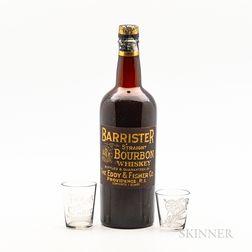 Barrister Straight Bourbon Whiskey, 1 quart bottle