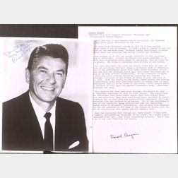 (Reagan),   Collection of paper related to the administration of Ronald Reagan