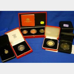 Eleven United Kingdom, Commonwealth and Chinese Uncirculated Gold Proof Coins