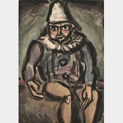 Georges Rouault (French, 1871-1958)      Clown assis