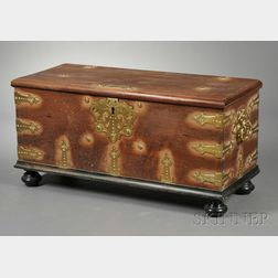 Brass-bound Walnut Blanket Chest