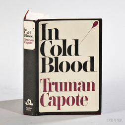 Capote, Truman (1924-1984) In Cold Blood,   Signed Copy.