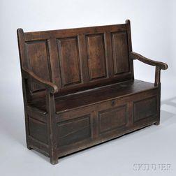 English Oak Settle Bench