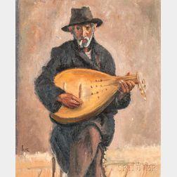 Iosif Iser (Romanian, 1881-1958)      Mandolin Player