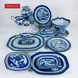 Large Group of Canton Porcelain Tableware
