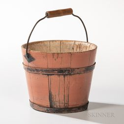 Shaker Salmon-painted Berry Pail