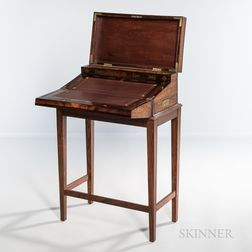 Fine Regency Rosewood Brass-mounted and Inlaid Writing Box