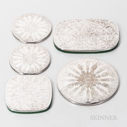 Five Silver-plated Trivets