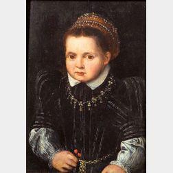 Manner of Pieter Jansz Pourbus (Flemish, 1510-1584)    Portrait of a Child