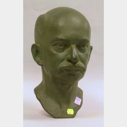 Philip S. Sears Patinated Bronze Bust of William Amory Gardner