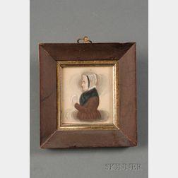 James Sanford Ellsworth (American, 1802/03- 1874)      Portrait Miniature of an Elderly Woman.