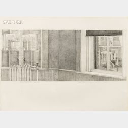 Barnet Rubenstein (American, 20th Century)      View from 69 Harvey Street, Cambridge, Mass.