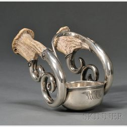 Sterling Silver and Horn Wine Taster