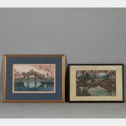Two Shin Hang   Woodblock Prints
