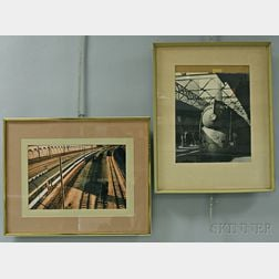 Two Framed Photographs of Trains