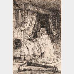 Rembrandt van Rijn (Dutch, 1606-1669)      David at Prayer