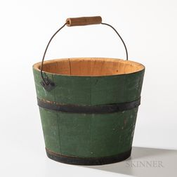 Shaker Green-painted Berry Pail