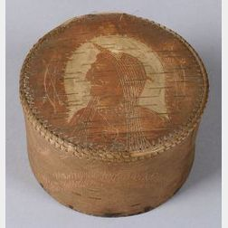 Northeast Wood and Birch Bark Covered Box