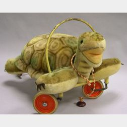 Steiff Mohair Ride-on Turtle