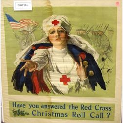 Three WWI Red Cross Lithographed Posters