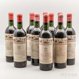 Chateau Mouton Rothschild 1957, 10 bottles