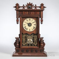 Seth Thomas Walnut Shelf Clock