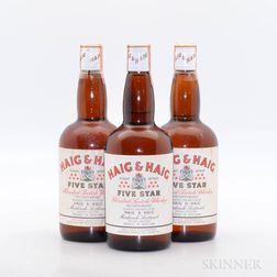 Haig & Haig Five Star, 3 4/5 quart bottles