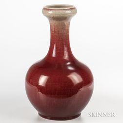 Large Flambe-glazed Vase