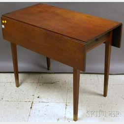 Federal Cherry Drop-leaf Pembroke Table with End Drawer.