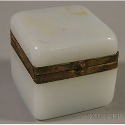 Opaline Box with Gilt-brass Mounts and Clasp