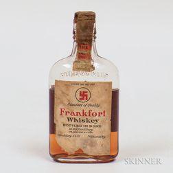Frankfort Whiskey 1911, 1 1/2 pint bottle