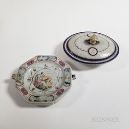 Two Chinese Export Porcelain Tableware Items
