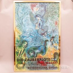 Framed Die Zauberflote (The Magic Flute)   Poster After Marc Chagall