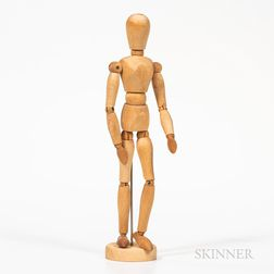 Small Articulated Wooden Artist's Model